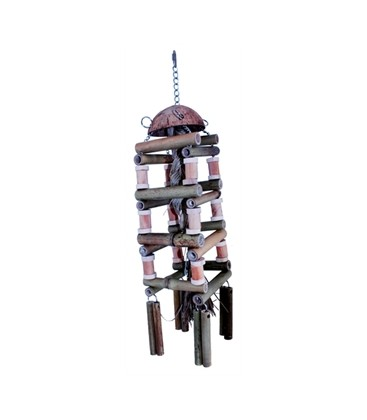 HAPPY PET NATURE FIRST SPEELGOED PAPEGAAI COCO REEL TOWER 69X15X15 CM