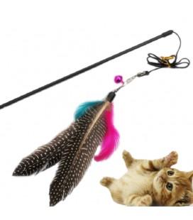 Top kwaliteit huisdier kat speelgoed leuke ontwerp vogel veer teaser wand