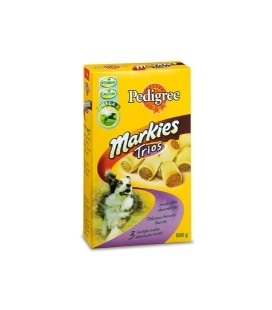 PEDIGREE - MARKIES TRIOS LAM MERGBEEN 500 GR KIP & LAM ADULT