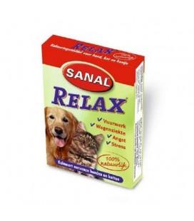 Sanal relax voor honden, katten en knaagdieren. 15 tabletten.