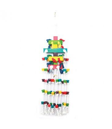 Vogelspeelgoed Raindrop Multi-color 100x25 cm
